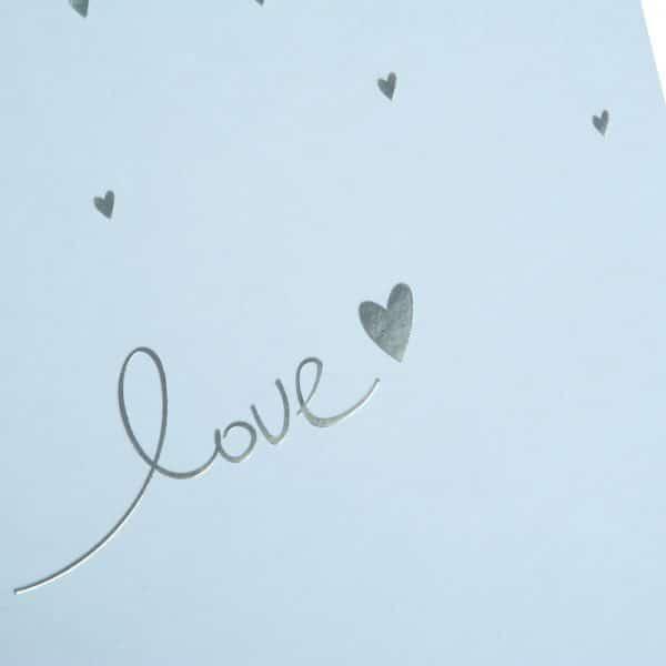 Trouwalbum Raining Hearts pastelblauw Goldbuch 08014 C