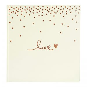 Trouwalbum Raining Hearts perzik Goldbuch 08015