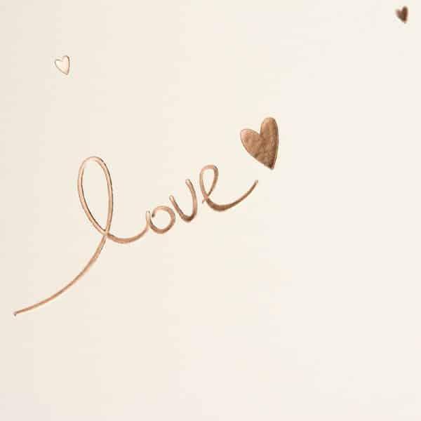 Trouwalbum Raining Hearts perzik Goldbuch 08015 C