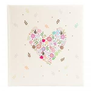 Trouwalbum Flowers in the Heart Goldbuch 08182
